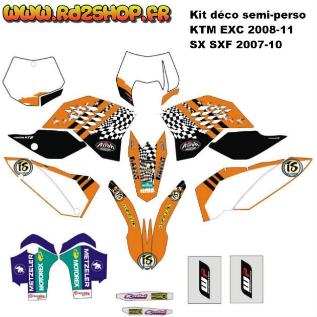 Kit D 233 Co Semi Perso Ktm Sx Sxf Exc 07 224 11