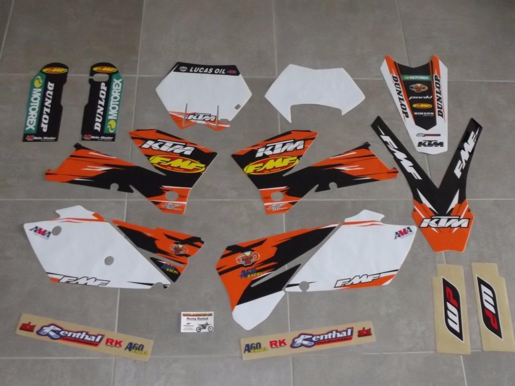 Kit déco Complet KTM EXC EXCF SX SXF ( 05 à 07 )