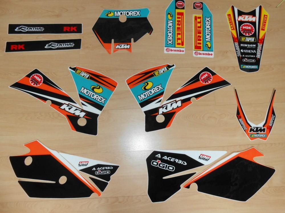Kit déco Complet KTM SX /SXF ( 2004 )