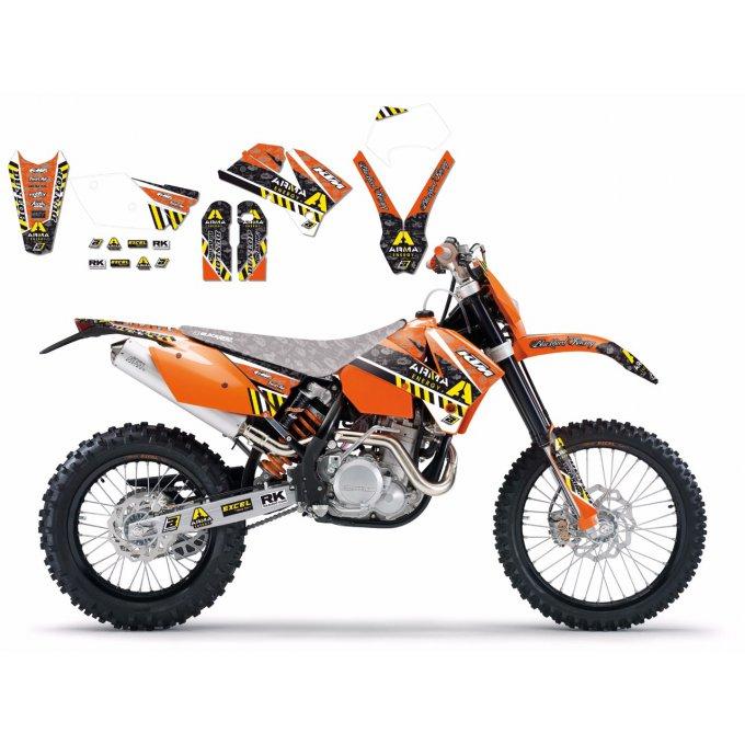 Kit déco KTM EXC EXCF SX SXF ( 2005 à 2007 )
