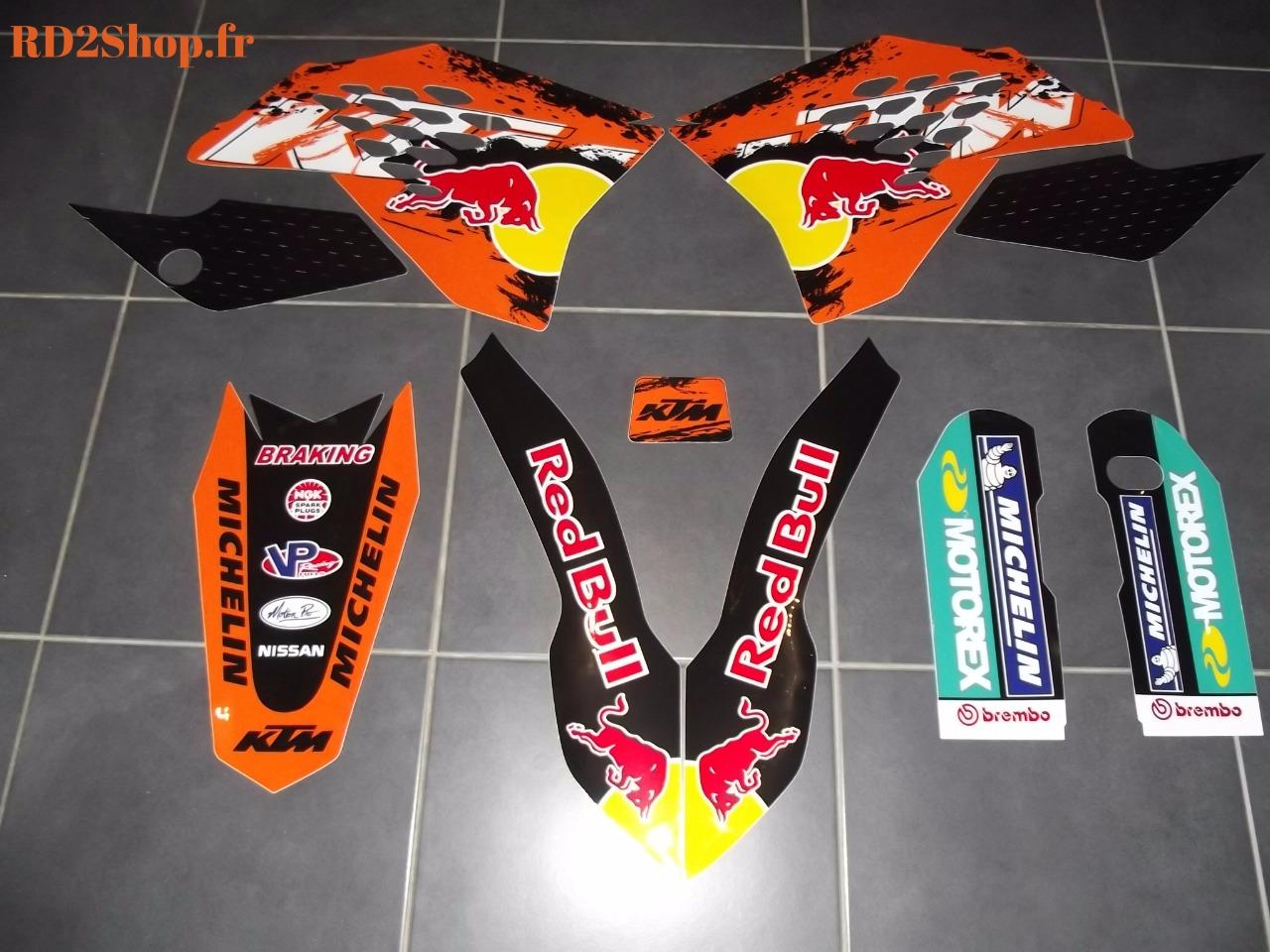 Kit déco REDBULL KTM / SX , SXF , EXC (07 à