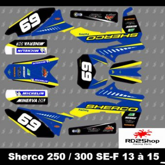 KIT DECO SHERCO SE SEF 250 300 450 2013 2014 2015