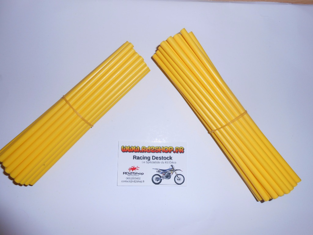 Couvres Rayons Jaune Pour 2 Roues