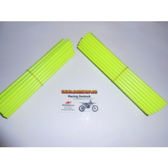 Couvres Rayons Jaune Fluo Pour 2 Roues