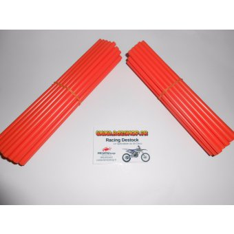Couvres Rayons Orange Pour 2 Roues