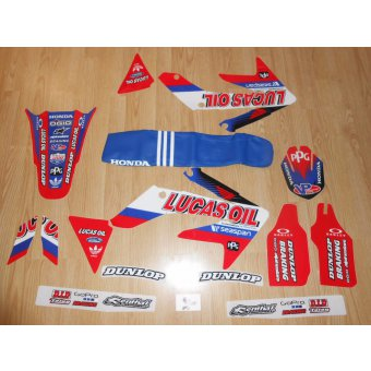 Kit Déco Honda 250 CRF lucas oil ( 04 à 09 )