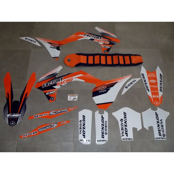Kit déco Stickers  Perso  KTM SX / SXF 125 250 450 ( 2013/ 2014 /  2015 )