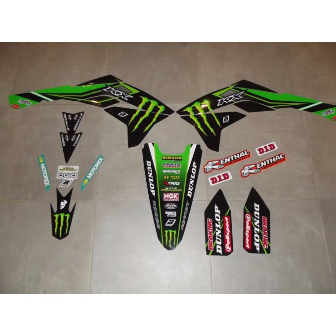 Kit Déco Monster Kawasaki KXF 450 ( 2016 / 2017 /  2018 )