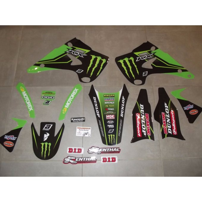 Kit déco KAWASAKI  KX 125 / 250 monster ( 2003 à 2012 )