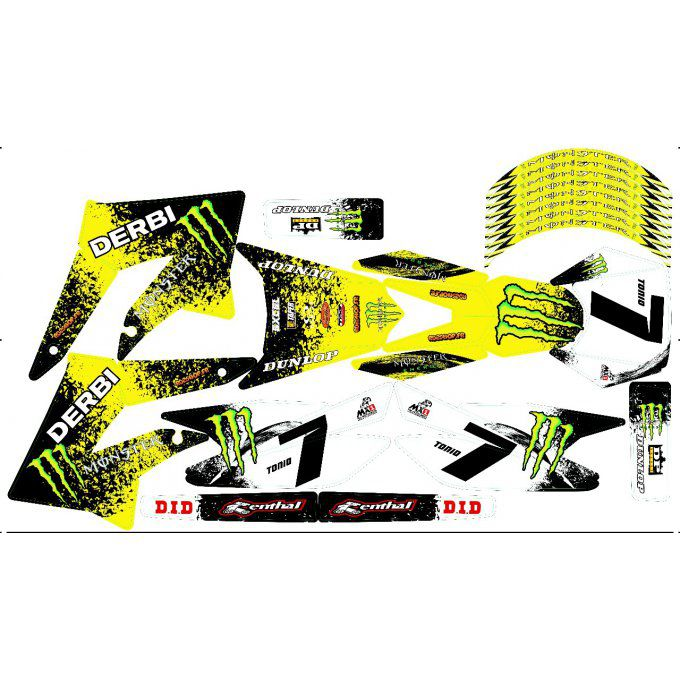 Kit Déco Perso 50 à boites DERBI / SHERCO / BETA