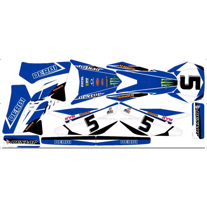 Kit Déco Perso 50 à boites DERBI / YAMAHA / BETA
