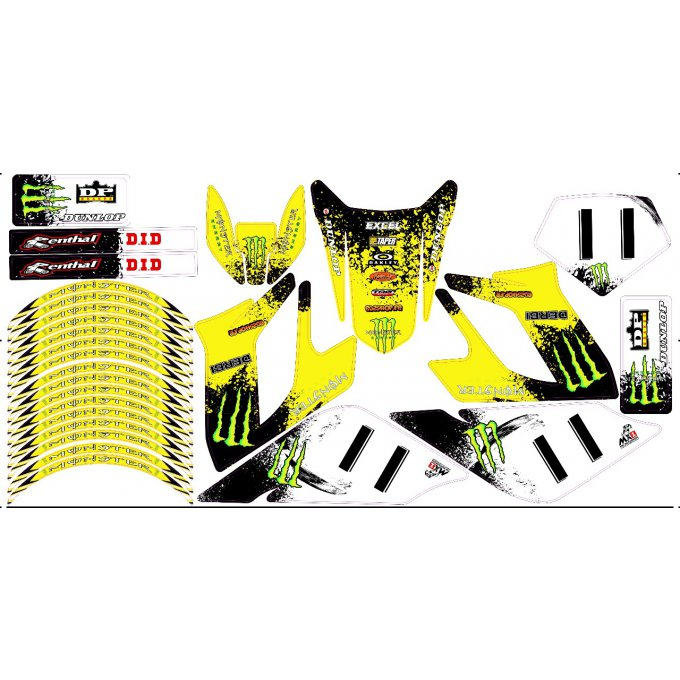 Kit Déco Perso 50 à boites DERBI  senda drd racing / SHERCO / BETA