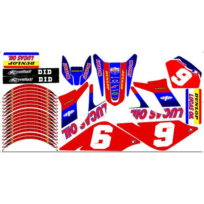 Kit Déco Perso 50 à boites DERBI  drd racing