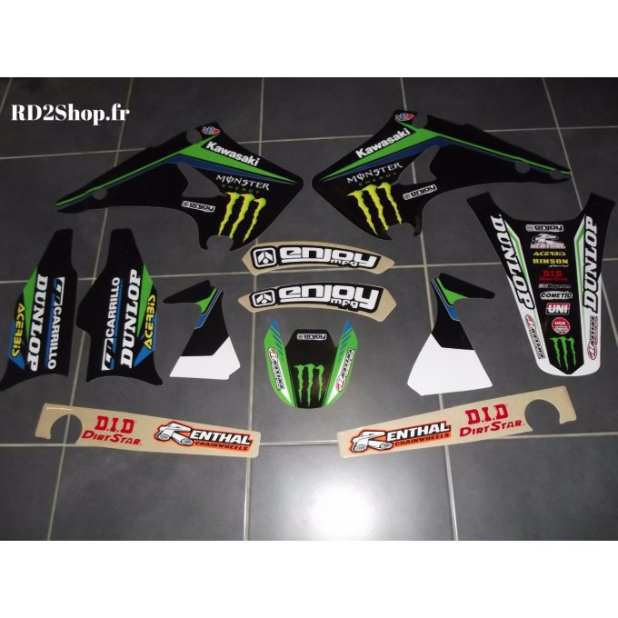 Kit déco KAWASAKI  KX 125 / 250 ( 2003 à 2012 ) MONSTER