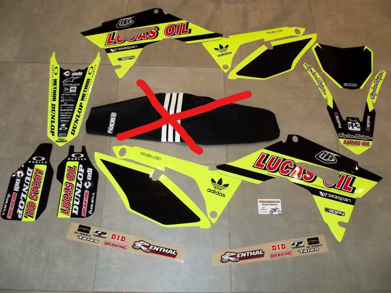 Kit Déco TLD FLUO CRF 250 / 450 ( 2017 / 2018 / 2019 / 2020)