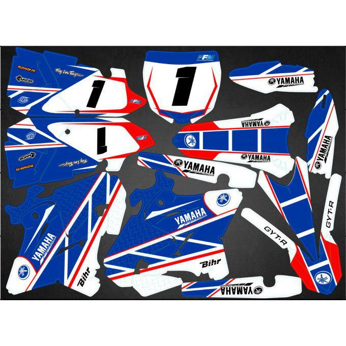 Kit déco Semi-perso YZ 125 / 250 ( 2002 / 2013 / 2014 / 2015 / 2016 / 2017 /  2018 / 2019 )