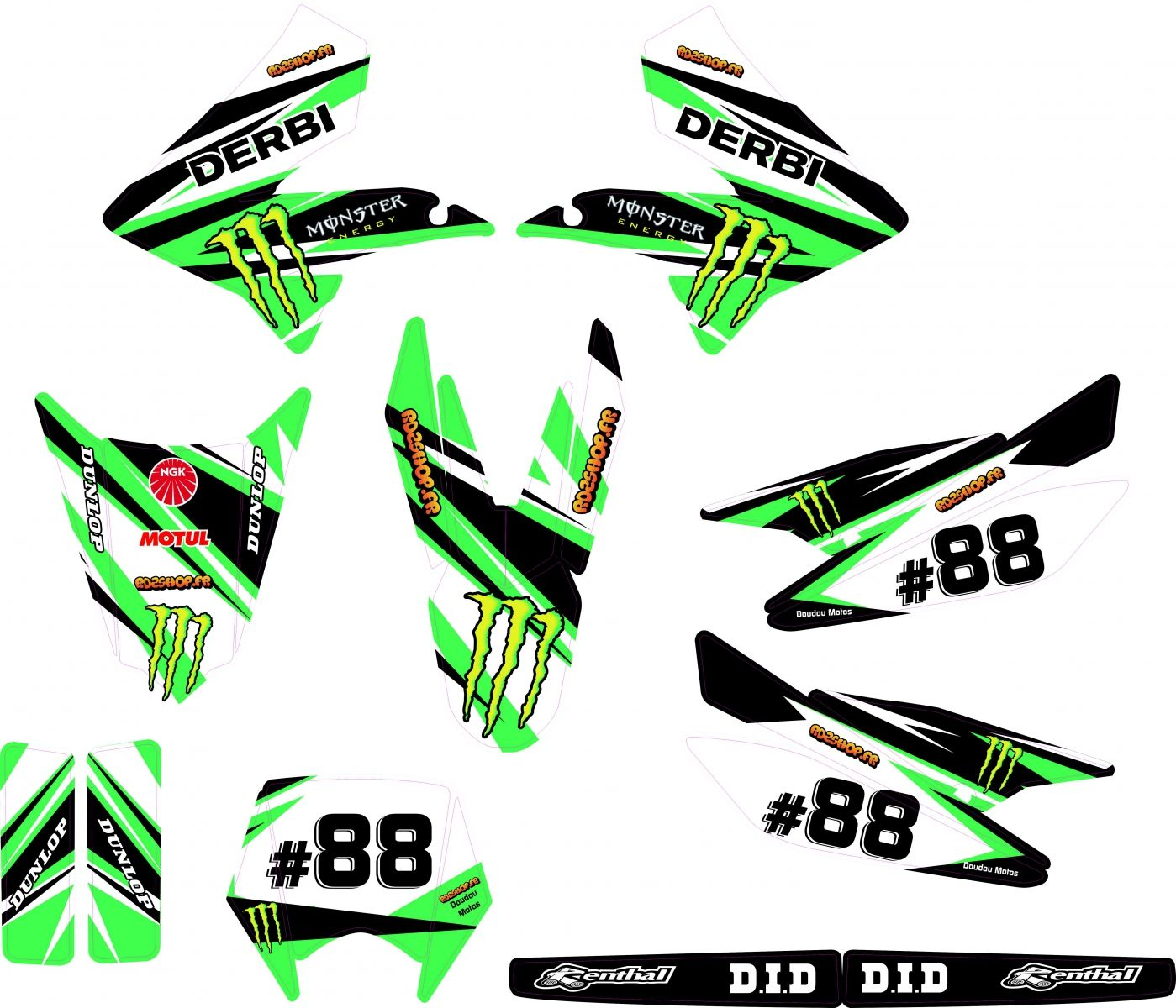 kit deco perso derbi drd xtrem sm